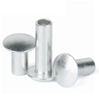 藍泰廠家直銷現貨供應扁圓頭鋁半空心鉚釘