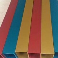 厂家直销6061-t6铝方通 彩色铝合金方管厂家