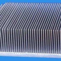 高难度年夜截面插片散热器铝型材厂