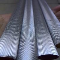 AL6061滚花铝棒 6063直纹网纹拉花铝棒厂