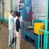 铝型材挤压模具双工位自动喷砂机
