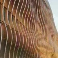 弧形铝方通美观外墙铝方通学校吊顶格栅