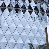 雅安雙曲鋁單板報價 滾涂弧型鋁單板廠家