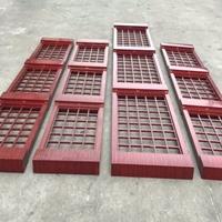 家墙壁红木100100格铝窗花经典工程