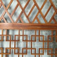 木纹铝合金屏风_销售部装饰隔断屏风