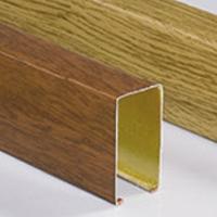 滾涂木紋吊頂材料 長條鋁方通吊頂