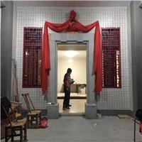 別墅戶形民宅大門深紅矩管鋁窗花案例實拍