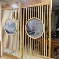 销售中心装饰隔断铝屏风_室内隔断木纹屏风