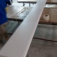 乳白色300面高边防风铝条扣板
