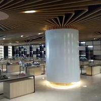 武汉弧型包柱铝单板 喷涂圆柱铝单板厂家