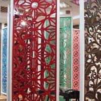 仿古木纹铝窗花厂家供应