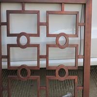 木纹铝花格窗