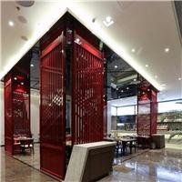 大型商场木纹铝窗格实惠定制价格