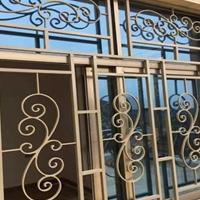 铝窗花门窗-仿古铝花格厂家材料定制批发