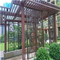 品牌展厅木纹铝窗格实惠定制价格