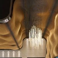 广州弧形铝方通厂家,弧形铝吊顶定制