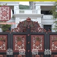 金豪尚别墅铸铝门、铝艺别墅大门、铸铝庭院门