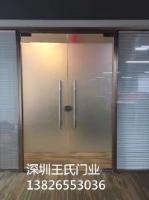 铝合金玻璃门钢化推拉隔断12厘办公室大门