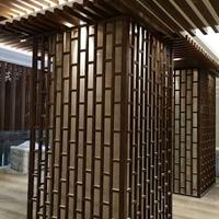 厂家定制方管铝窗花室内装饰隔墙屏风