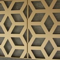 24墙镶嵌式仿古木纹铝窗花任意尺寸定制