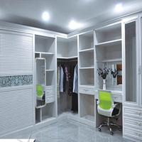浙江省铝式家居 全铝整体衣柜转角柜铝材