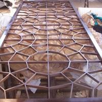 铝合金窗花-隔断铝屏风-仿古木纹铝窗花