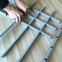 123灰色铝格栅 小方格铝格子天花
