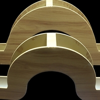 双曲氟碳外墙铝单板异型冲孔铝单板定做