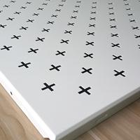 灰色沖孔鋁扣板吊頂 直排孔對角孔鋁方板
