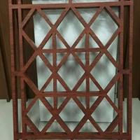 上海豪华酒楼仿古木纹铝窗花特别定制