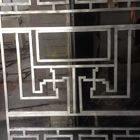 厦门饮食街建筑工艺铝窗花特别定制