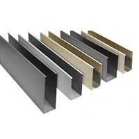 U型鋁方通 滾涂深色木紋鋁方通 50×90鋁方通