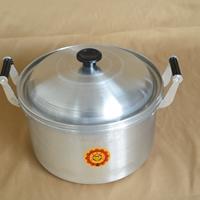 供應16cm~26cm砂光胖蓋鍋老式鋁鍋