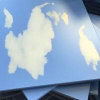 600X600蓝天白云铝扣板 铝方板 铝天花