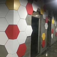 墙面装饰2.0mm六边形铝单板 彩色喷涂铝单板