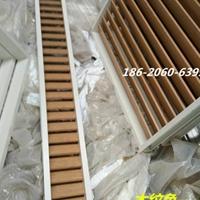中式铝艺花格-港式铝百叶窗格-木色铝风窗