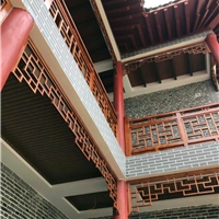 古建中国・铝挂落仿木色铝合金挂落