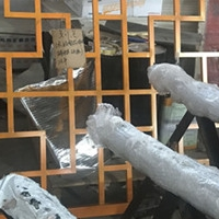 人工細心燒焊型材鋁花窗 復式鋁花格