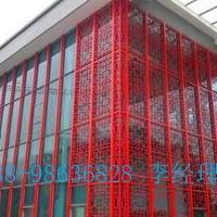 木纹铝窗花_木纹型材铝窗花