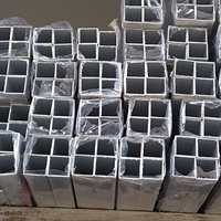 6061铝方管2A12铝合金方管 铝扁通铝方通