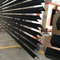 黑色U型铝方通车间烤漆喷涂 U槽铝格栅