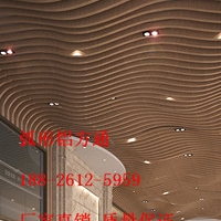 国际博览馆造型吊顶方通_弧形铝方通