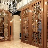 高端酒店装饰古典铝窗花铝板铝花格厂家