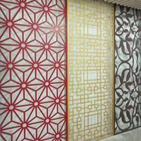 氟碳玄色铝窗花 铝合金窗花配景墙