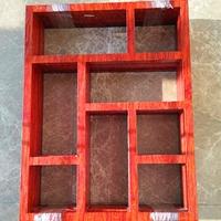 仿古街门头铝合金窗改造购买木色铝窗花格