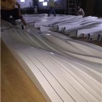 波浪形铝格栅天花 木纹背景墙弧形铝方通