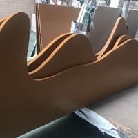 加工定做贵阳电影院木纹弧形铝方通