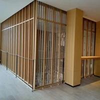 厂家直销室内装饰铝屏风装饰木纹铝窗花