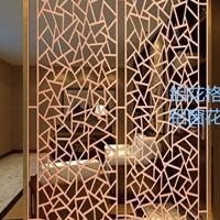 酒店装饰常用木纹铝窗花 铝挂落 铝屏风