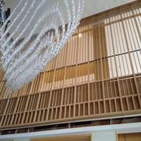 广东室内装饰热转印木纹色铝窗花铝隔断厂家